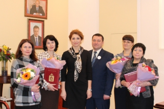 Глава Рязани Юлия Рокотянская поздравила сотрудников управления образования