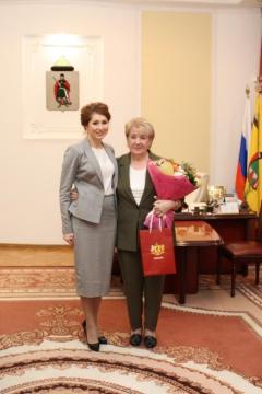 Юлия Рокотянская поздравила Почетного гражданина Рязани Александру Перехватову с юбилеем